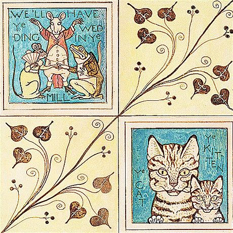 Design for nursery wallpaper by the Arts and Crafts architect and designer Charles Voysey