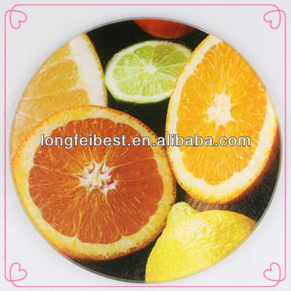 Round tempered glass chopping board/ cutting board/ chopping sheet