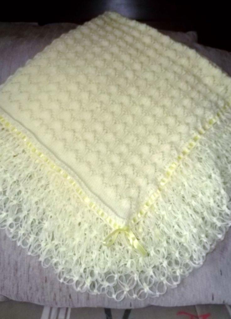 manta de trico rendado