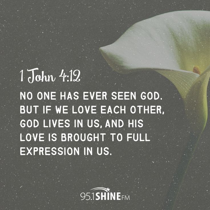 In Love God Each Other: No One Has Ever Seen God. But If We Love Each Other, God