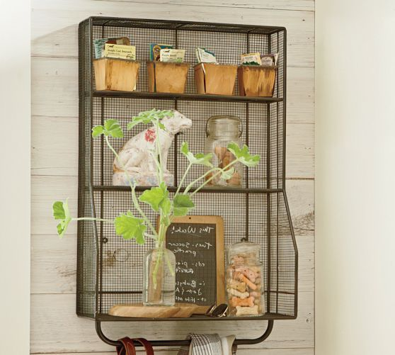 Rustic Metal Shelving Pictured Kellan Wall Mount Storage