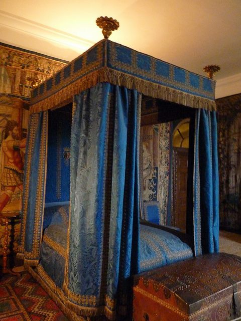 The Blue Bedroom At Hardwick Hall Architecture Castles