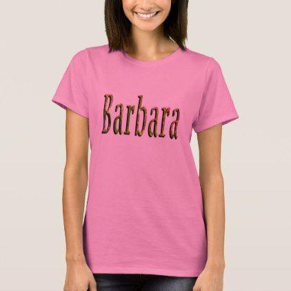 #name - #Barbara Name Logo Ladies Pink  Tshirt