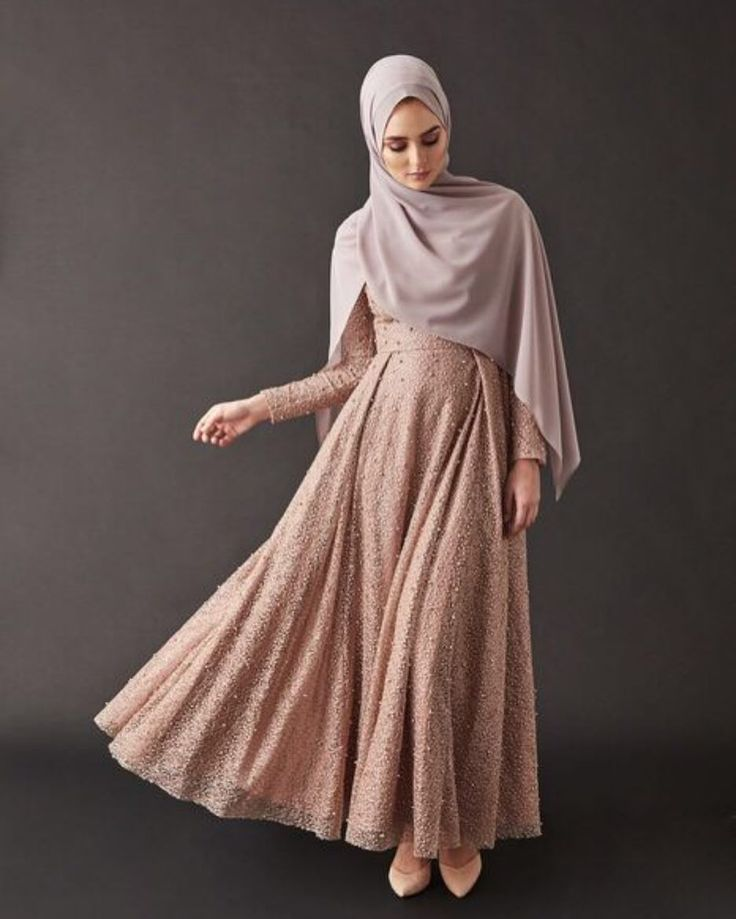 #INAYAHfavourites | Dusky Pink Pearl Embellished Gown with Pleat - Restocked! www.inayah.co/us