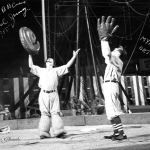 Paul Jung and Myron Orton in the ring, doing a baseball skit http://famousclowns.org/famous-clowns/paul-jung-famous-producing-circus-clown/