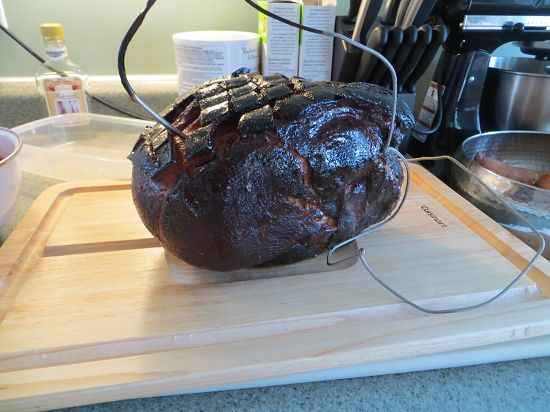 I smoked a ham on the Big Green Egg. It tasted amazing. Here is the recipe. I suggest trying this one out today.