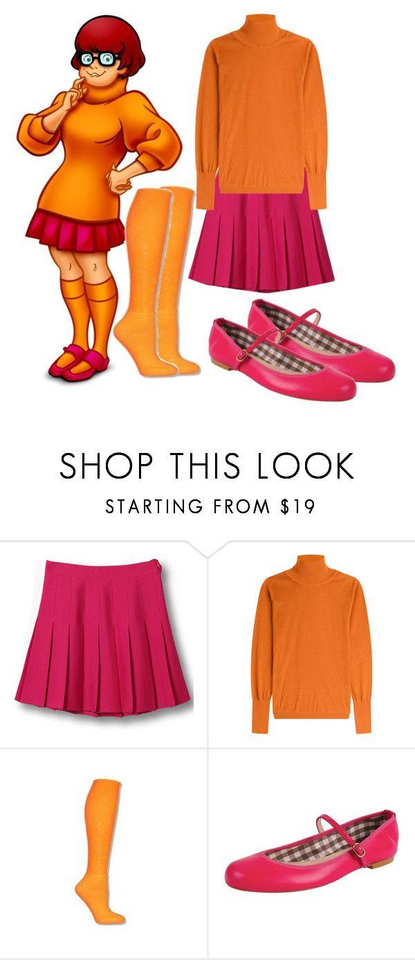 """Scooby Doo Velma"" by ejsmash ❤ liked on Polyvore featuring WithChic, Roksanda and Jon Josef"