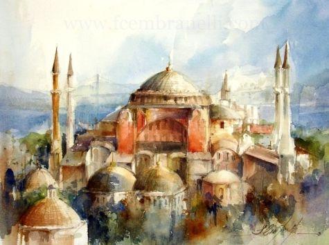 Next Week: ISTANBUL / Pr xima semana: ISTANBUL, painting by artist Fabio Cembranelli