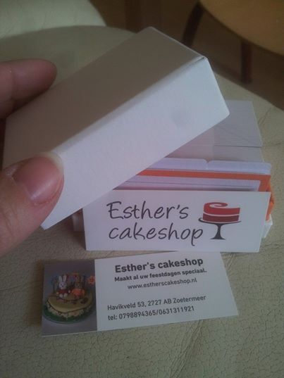 Esther's cakeshop is nu open......