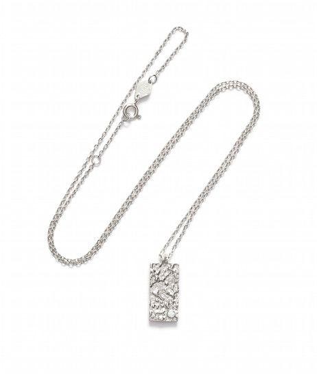 163-01-02-4 // ANNI LU // La Lune // Square necklace // Silver