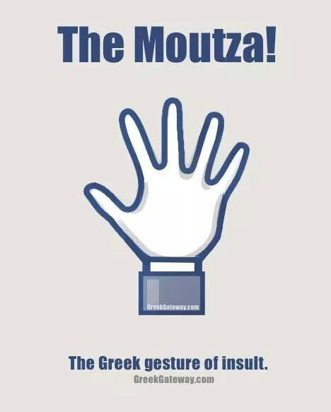Moutza - a greek gesture
