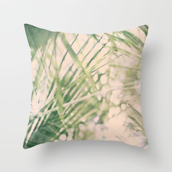 Green dreams Throw Pillow