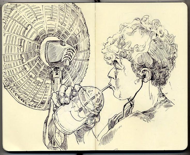 Moleskine Sketches | Welcome to the Halltoons Weblog: A few more Moleskine sketches