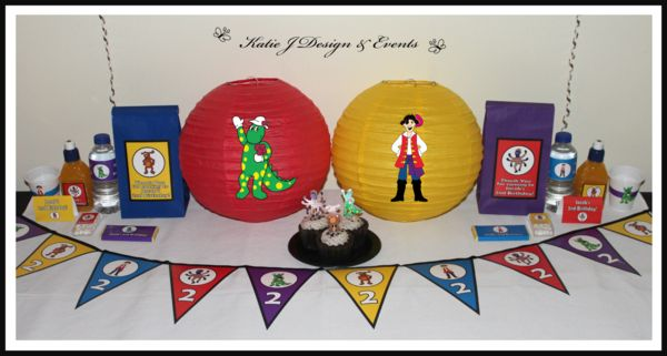 Paper Lanterns #The #Wiggles #Dorothy #Wags #Captain #Feathersword #Henry #BigRedCar #Boy #Birthday #Party #Decorations #Ideas #Banners #Cupcakes #WallDisplay #PopTop #JuiceLabels #PartyBags #Invites #Ideas #KatieJDesignAndEvents #Personalised #Creative #Kids #Bunting