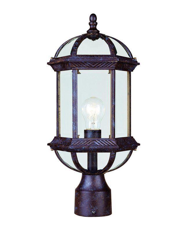 "Savoy House 5-0632 Kensington 1 Light 17.75"" Tall Single Outdoor Post Light Rustic Bronze Outdoor Lighting Post Lights Post Lights"