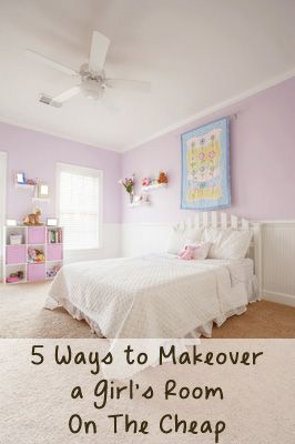pHere are 5 ideas of things you can do that will help give your little girls room a makeover without having to spend a fortune: 1. Paint All Furniture The Same Color You can take old, mismatched furniture, ugly craigslist pieces and paint them all the same color or /p