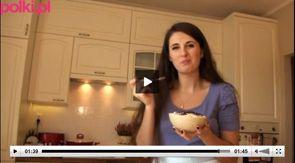 Mrożony jogurt z bananem i masłem orzechowym - Kasia gotuje z Polki.pl [video]
