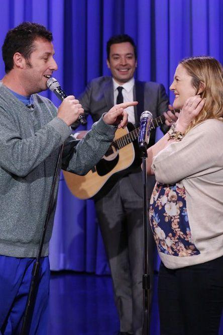 Adam Sandler and Drew Barrymore Serenade Each Other