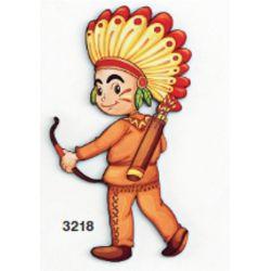 Ξύλινο Stand/Μπρελόκ/Διακοσμητικό/Μανταλάκι/Μαγνητάκι Ινδιάνος (5cm,8cm,13cm,18cm,25cm,50cm,1m)