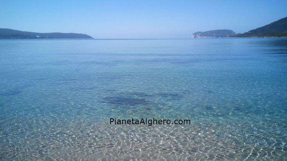 Foto e posizione geografica della Spiaggia di Mugoni di Alghero.
