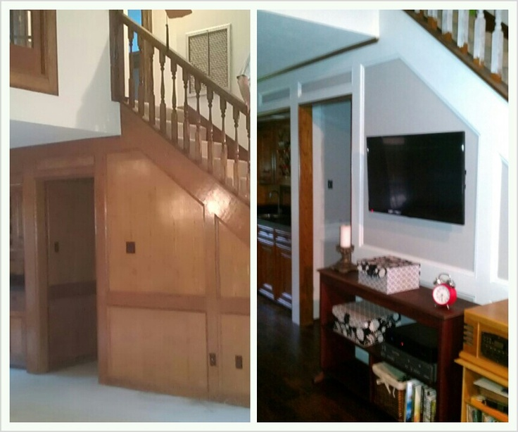 A Great Way To Update Outdated Wood Paneling Easy