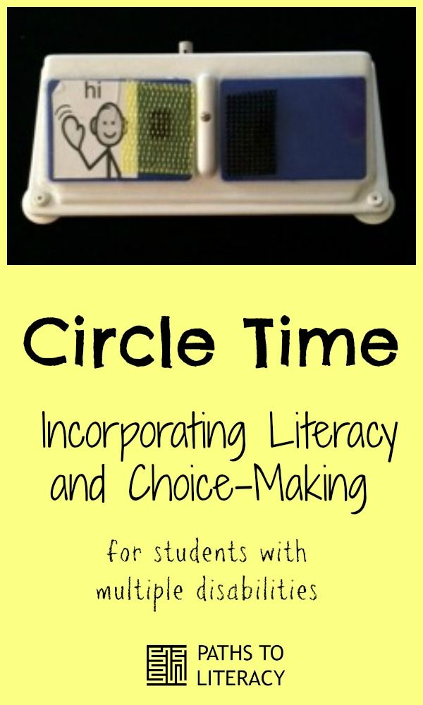 Circle Time ideas for incorporating literacy and choice-making for students with multiple disabilities