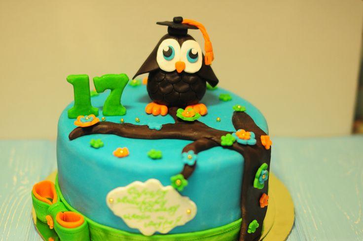 Торт с умной совой)