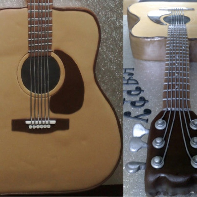 Guitar Hero Birthday Cake Topper Uk