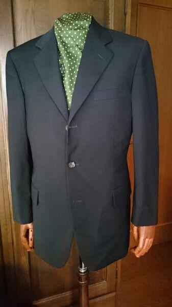 紳士 スーツ【ロロピアーナ】 イタリア最高生地使用 M 日本製、濃紺、春夏物_画像1