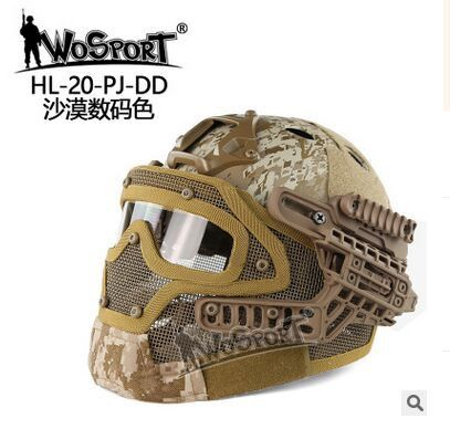 Multi-function New Airsoft Paintball Tactical Protection Mask Face Army Outdoor Full Face protective mask B19