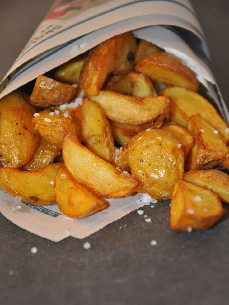 Sprøde pomfritter af daggamle kogte kartofler