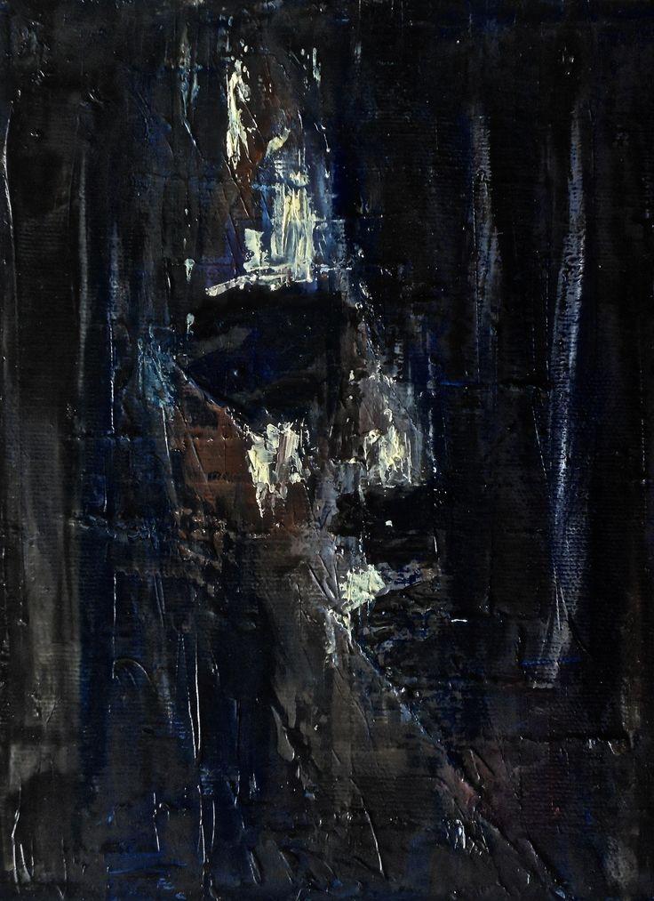 Hope - minimal oil portrait by Polish visual artist Jacek Sikora