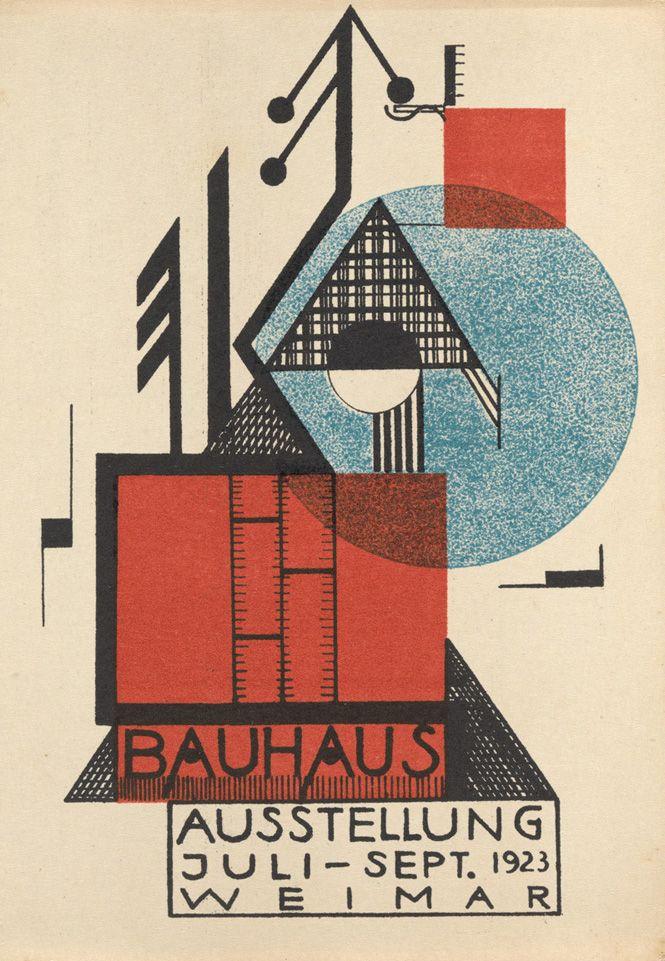 garadinervi: Bauhaus postcards 1923. Rudolf Baschant. Bauhaus Ausstellung Weimar Juli–Sept, 1923, Karte 9. 1923.