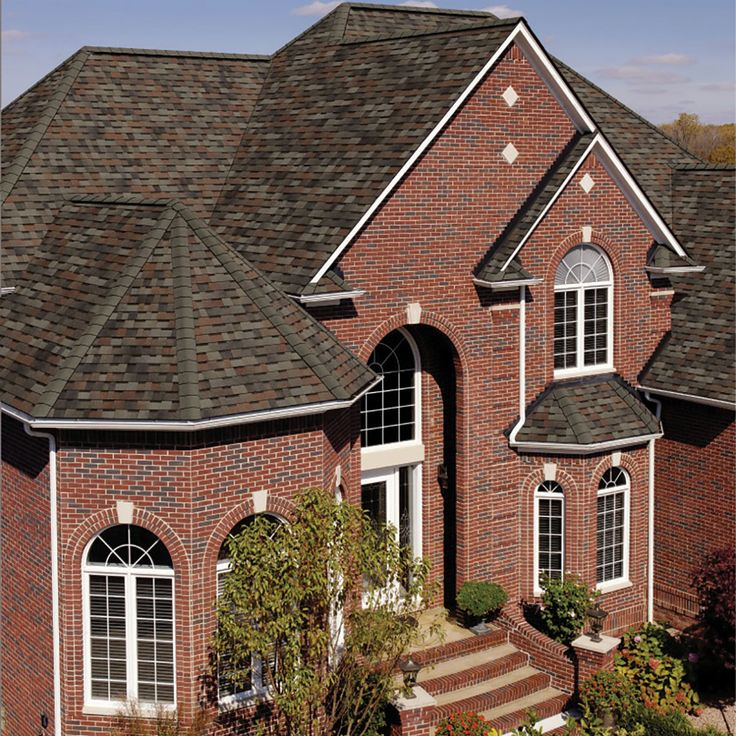 Red Brick House Grey Trim