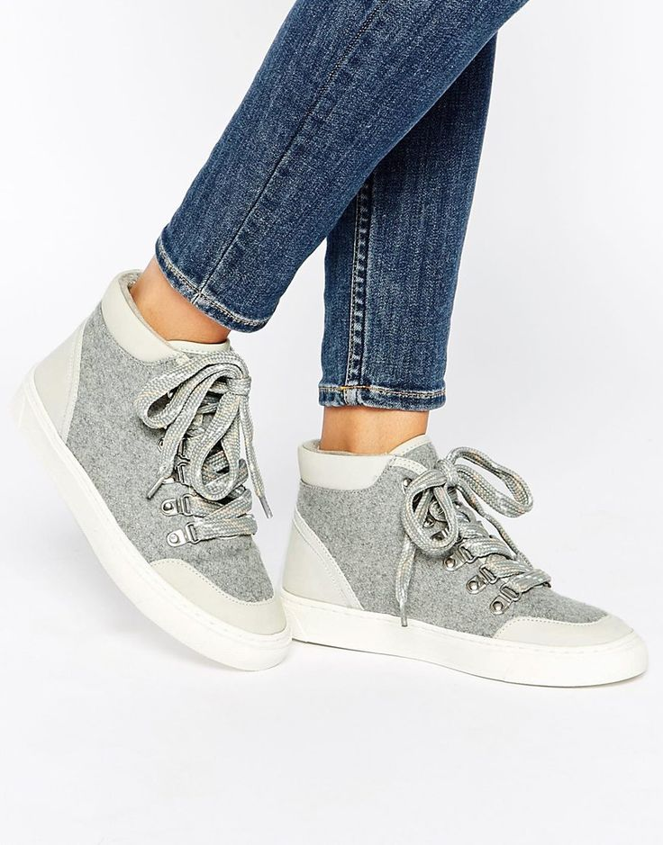 Image 1 of ALDO Lyddon Gray High Top Sneakers | Style | Pinterest | High  tops