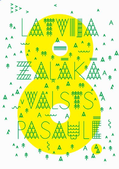 """Poster """"Latvia (8.) greenest country in the world"""" por Zigmunds Lapsa"""