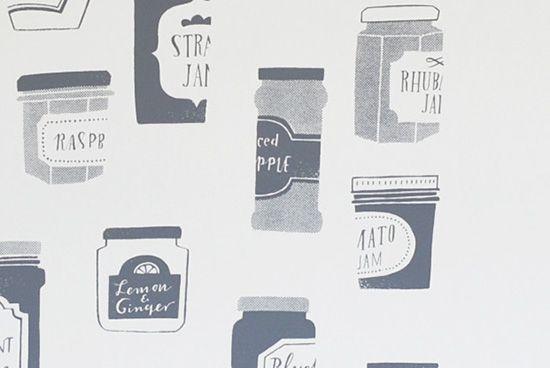 オリジナルポスター/シルクスクリーン/ジャムのビン(グレー) - 北欧雑貨と北欧食器の通販サイト  北欧、暮らしの道具店