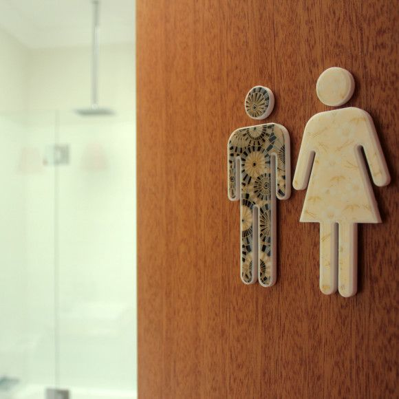 Male bathroom decor
