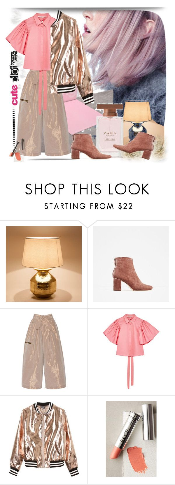 """""""Untitled #1490"""" by hannah353 ❤ liked on Polyvore featuring Zara Home, Tome, Sans Souci, FACE Stockholm and J Brand"""