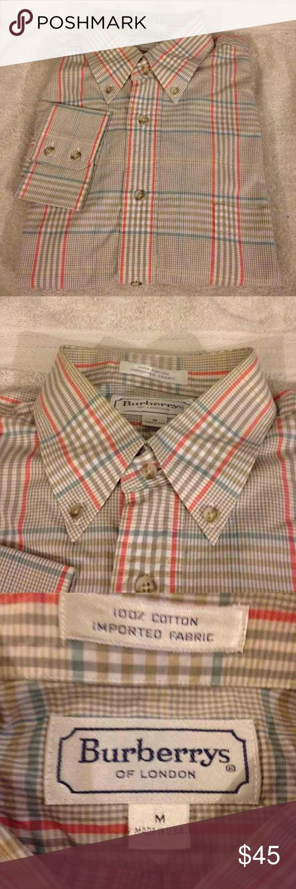 Burberry Tan, Blue & Red Plaid Shirt M Burberry Tan, White, Blue and Red Plaid Nova Check Shirt size M Medium! Great condition! Please make offers and bundle! Ask questions! :) Burberry Shirts Casual Button Down Shirts