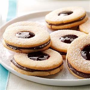 Chocolate Linzer Cookies Recipe