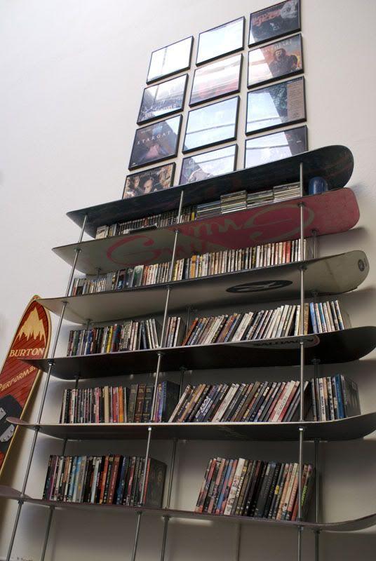 Snowboard shelf