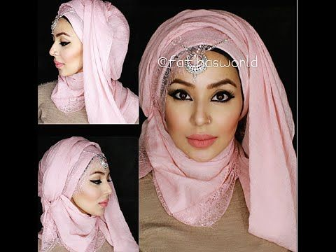 3 Party hijab styles: Hood effect and turban-ish style |by fatihasworld - YouTube