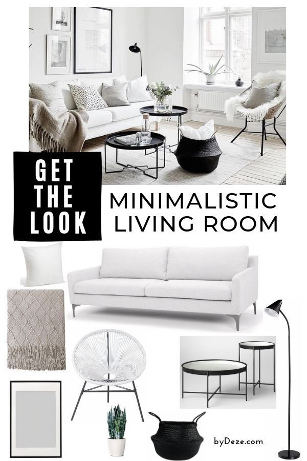 Decorate Your Living Room In This Scandinavian Style For Cheap In 2020 Living Room Scandinavian Black And White Living Room Living Room On A Budget