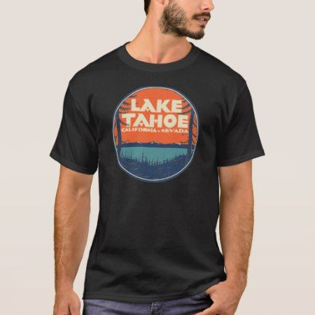 Lake Tahoe Vintage Travel Decal Design T-Shirt - tap to personalize and get yours
