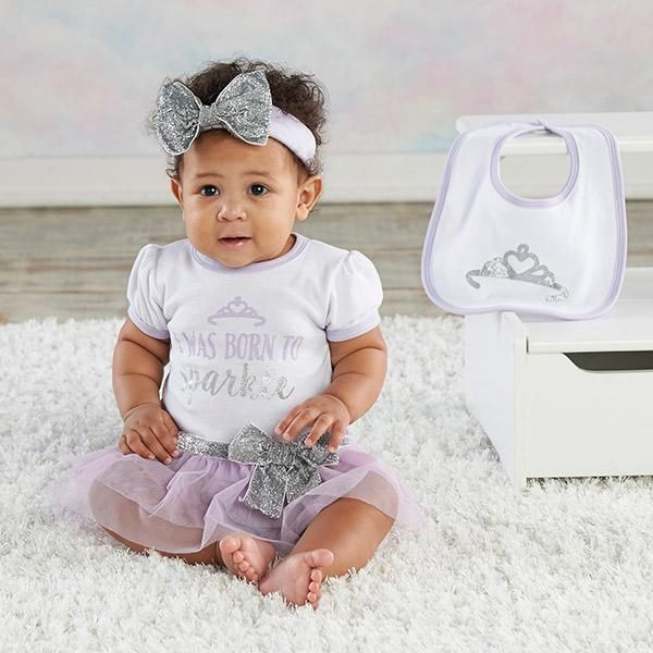 Born To Sparkle 3 Piece Gift Set Baby Aspen Newborn Baby Gifts Bridal Shower Favors