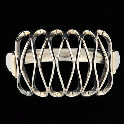 Erik Granit, vintage modernist sterling silver bracelet, 1973.   eBay.com #Finland