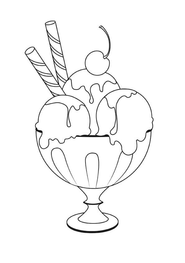 Αποτέλεσμα εικόνας για cornet de glace coloriage
