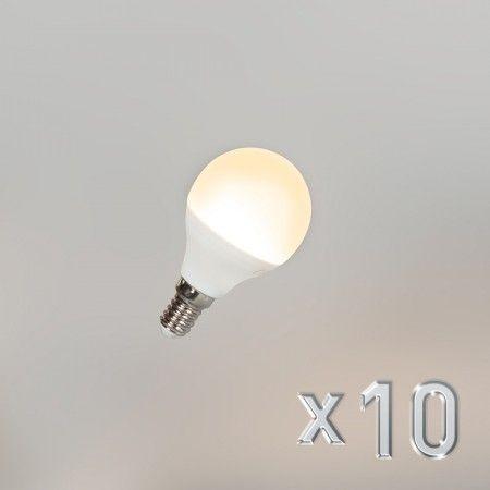 10er Set LED Leuchtmittel G45   Diese sehr attraktiven #LED #G45 #E14 #Leuchtmittel bieten den perfekten Ersatz für Ihre alte #Lichtquelle. Genießen Sie die #Vorteile der LED und vergessen Sie die Lasten der #Glühbirne! Die LED #Lampen verbrauchen gerade mal #5Watt und das bei einer Lichtleistung von #400Lumen. Hoch energieeffiziente #Leuchtmittel mit einer langen #Lebensdauer und einer #angenehmen #Lichtfarbe.
