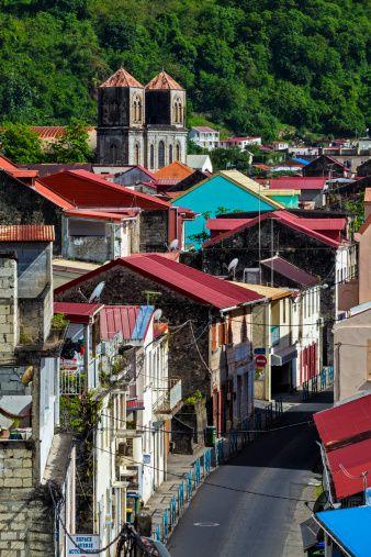 Notre Dame de L'Assomption Cathedral, Saint Pierre, Martinique, French West Indies, Caribbean by Bruno De Hogues